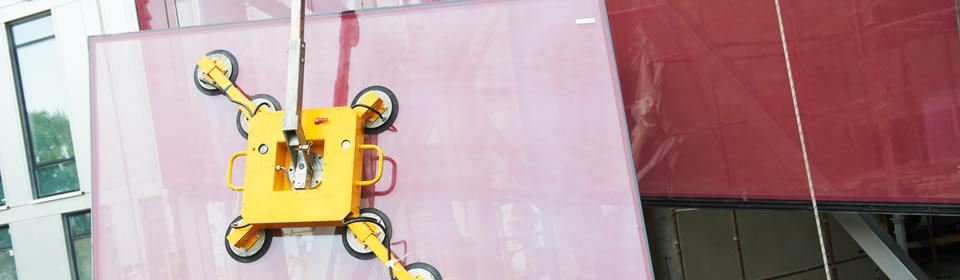 Glas verplaatsen met zuignap